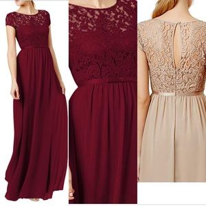 Burgundy Formal/Semi Formal Long Dress